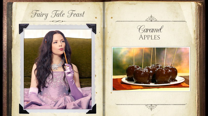 Snow White Caramel Apples